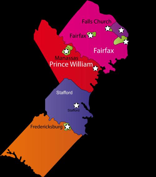 Woodbridge county map